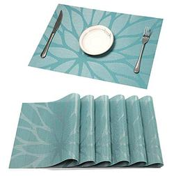 HEBE Placemat Set of 6 Washable Placemats for Dining Table I
