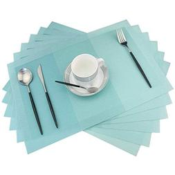 Placemats,Non-Slip Plastic Placemats,Easy to Clean Woven Vin
