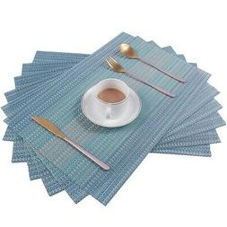 Pauwer Placemats Set of 4 for Dining Table Washable Woven Vi