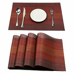 Pauwer Placemats Set of 6 for Dining Table Washable Woven Vi