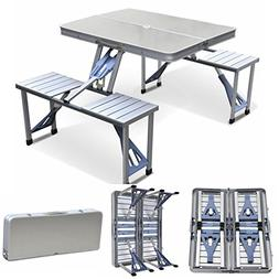 Magshion Furniture Portable Folding Camping Picnic Table wit