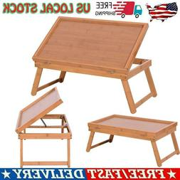 Portable Wood Color Table Top Adjustable Dining-table Readin