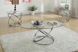 Poundex Furniture F3087 3 Pc Occasional Table Set