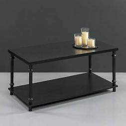 Priage by Zinus Easy Assemble Two-Tier Coffee Table Black