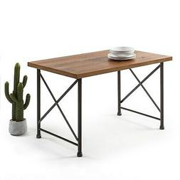 Priage by Zinus Industrial Style Dining Table Pine Finish