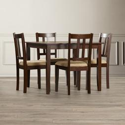 Primrose Road 5 Piece Dining Set, Unique wood grain look