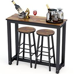 Tribesigns 3-Piece Pub Table Set, Counter Height Dining Tabl