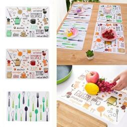 PVC Dining Table Mat Table Cloth Slip Resistant Water-resist