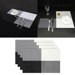 PVC Placemats for Dining Table Stain-Resistant Woven Vinyl K