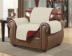 Linen Store Quilted Reversible Microfiber Pet Furniture Prot