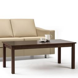 Real Wood Coffee Table Large Modern Pine Solid Living Room A
