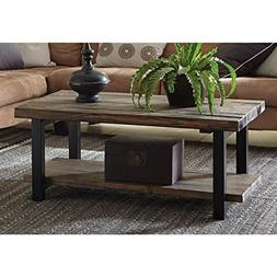 Alaterre Pomona Reclaimed Wood and Metal 42-inch Coffee Tabl