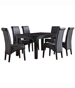 7Pc Rectangular Dining Set in Tanners Brown Finish