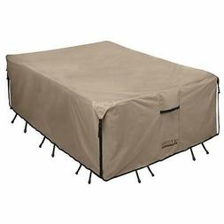 ULTCOVER Rectangular/Oval Patio Heavy Duty Table Cover 600D