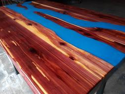 Red Cedar Crafted River Live Edge Dining Table
