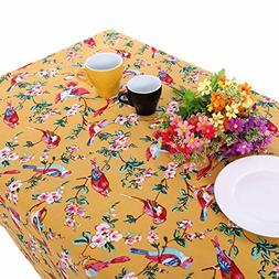 Retro Countryside Style Table Cloths with Lively Birds and F