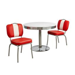 Retro Dining Table And Chairs Classic 3PC Set 3 Piece Small