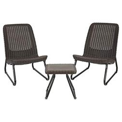 Keter Rio 3 Pc All Weather Outdoor Patio Garden Conversation