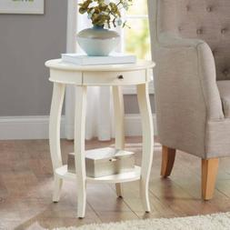 Better Homes and Gardens Round Accent Table with Drawer, Mul
