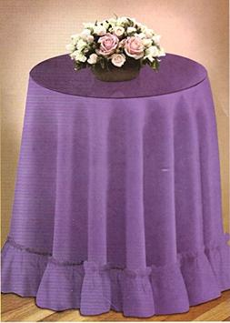 "70"" Round Decorator Tablecloth Fashion Solid Color Selection"