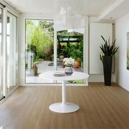 Bowery Hill Round Dining Table in White