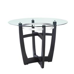 Round Dining Table Tempered Glass Top Dining Room Kitchen Ro