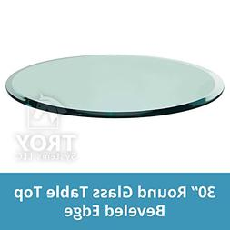 TroySys 1/2 inch Thick 30 inch Round Glass Table Top with Be