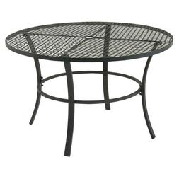 Round Metal Outdoor Table in Gray