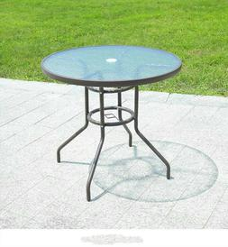 Round Patio Dining Table Outdoor Garden Table Bistro Terrace