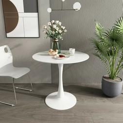 Round Pedestal Table in White ,Tulip Design Coffee Table Din