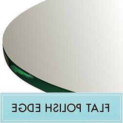 "48"" Round Clear Glass Table Top 1/2"" Thick Flat Polished Edg"