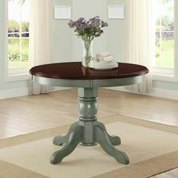 Round Wood Kitchen Table Dining Rustic Farmhouse Country Sty