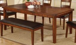 Rustic Style Antique Medium Oak Solid Wood Dining Table by P