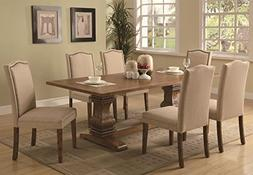 Janes Gallerie 7-piece Rustic Cognac Trestle Dining Set