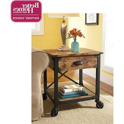 Better Homes And Gardens Rustic Country Side Table Antiqued