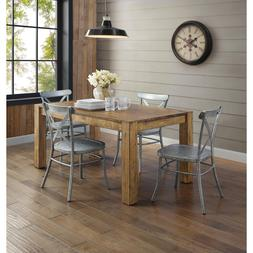 Rustic Dining Room Table Set Farmhouse Solid Wood Kitchen Ta