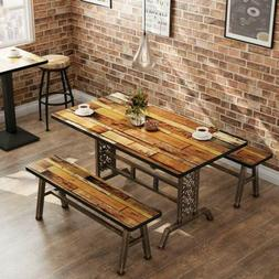 Rustic+Antique Bronze 3 Pieces Dining Set Home Kitchen Table