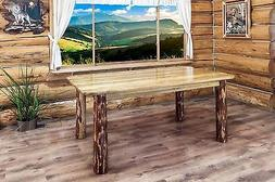 Rustic Log Dining Room Tables 6 ft Kitchen Table Amish Made