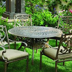 Darlee Santa Barbara 5 Piece Cast Aluminum Patio Dining Set