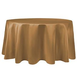 Ultimate Textile  Satin - Duchess 90 Inch Round Tablecloth -