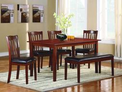 Schaffer 6 PC Dining Table Set with Bench by Home Elegance i