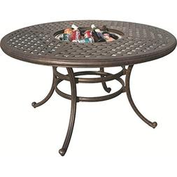 """Darlee Series 30 Patio 52"""" Round Dining Table in Antique Bro"""