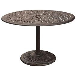 """Darlee Series 80 Patio 42"""" Round Dining Table in Antique Bro"""