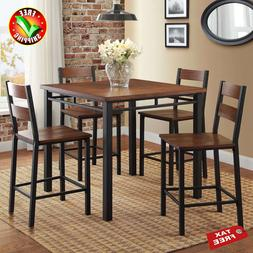 Set Counter Height Kitchen Tables And Chairs 5 Piece Wood Se