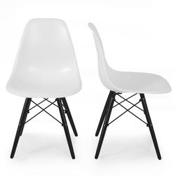 Belleze© Set of  Eames Molded Plastic Style Side Chairs