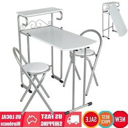 Set Of 2 Modern Dining Table Chair Office Desk Foldable Spac