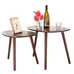 Set of 2 Nesting Tables Stacking Coffee/Side/End Tables for