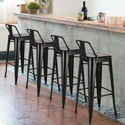 """Set of 4 Ion Bar Stool 30"""" Counter Stools Low Back Barstool"""