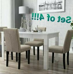 Set of 4! Upholstered Dining Table Chair Parson Urban Kitche
