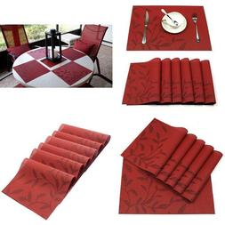 Set of 6 Heat & Stain Resistant PVC Placemats for Dining Tab